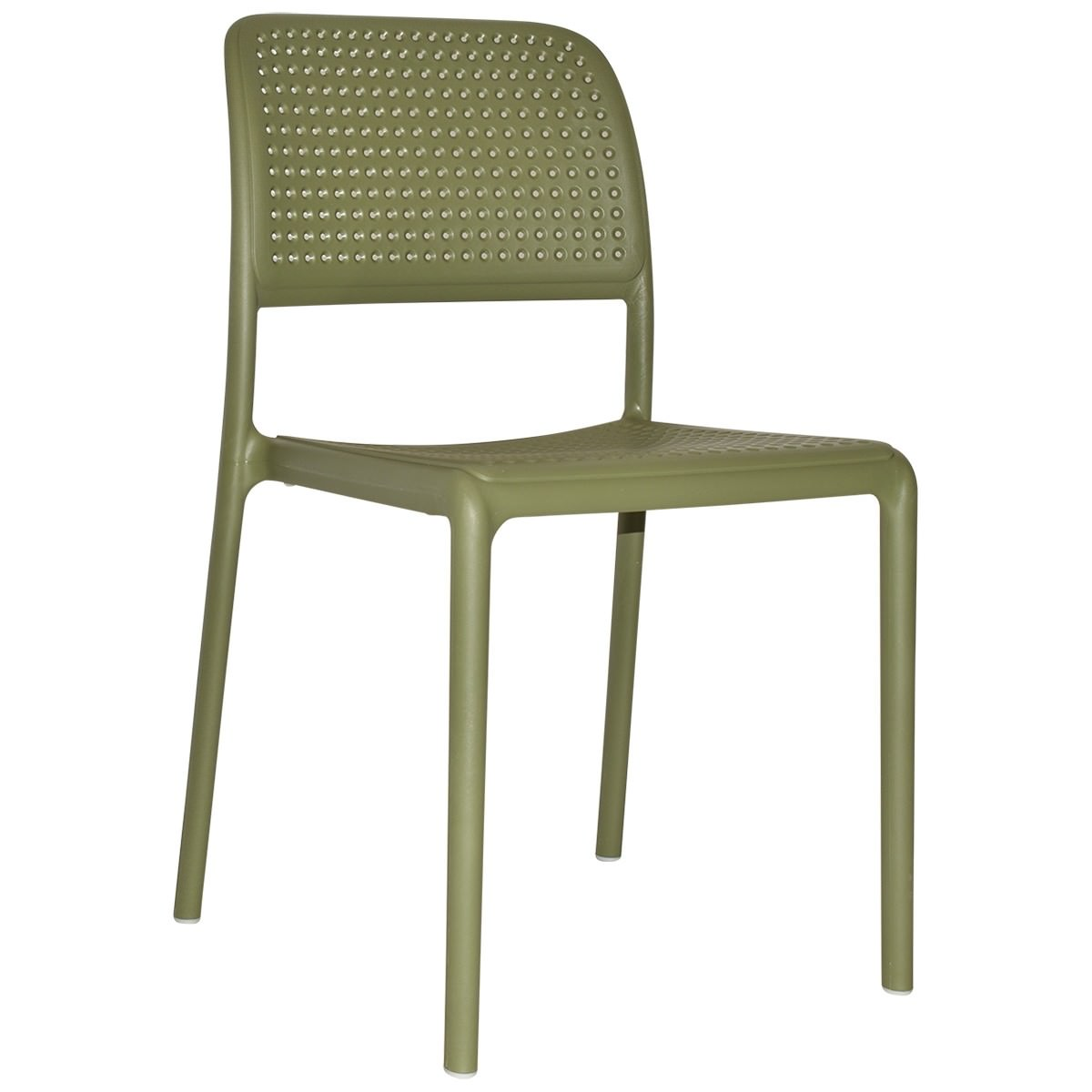 Bora Italian Made Commercial Grade Stackable Indoor / Outdoor Dining Chair, Agave
