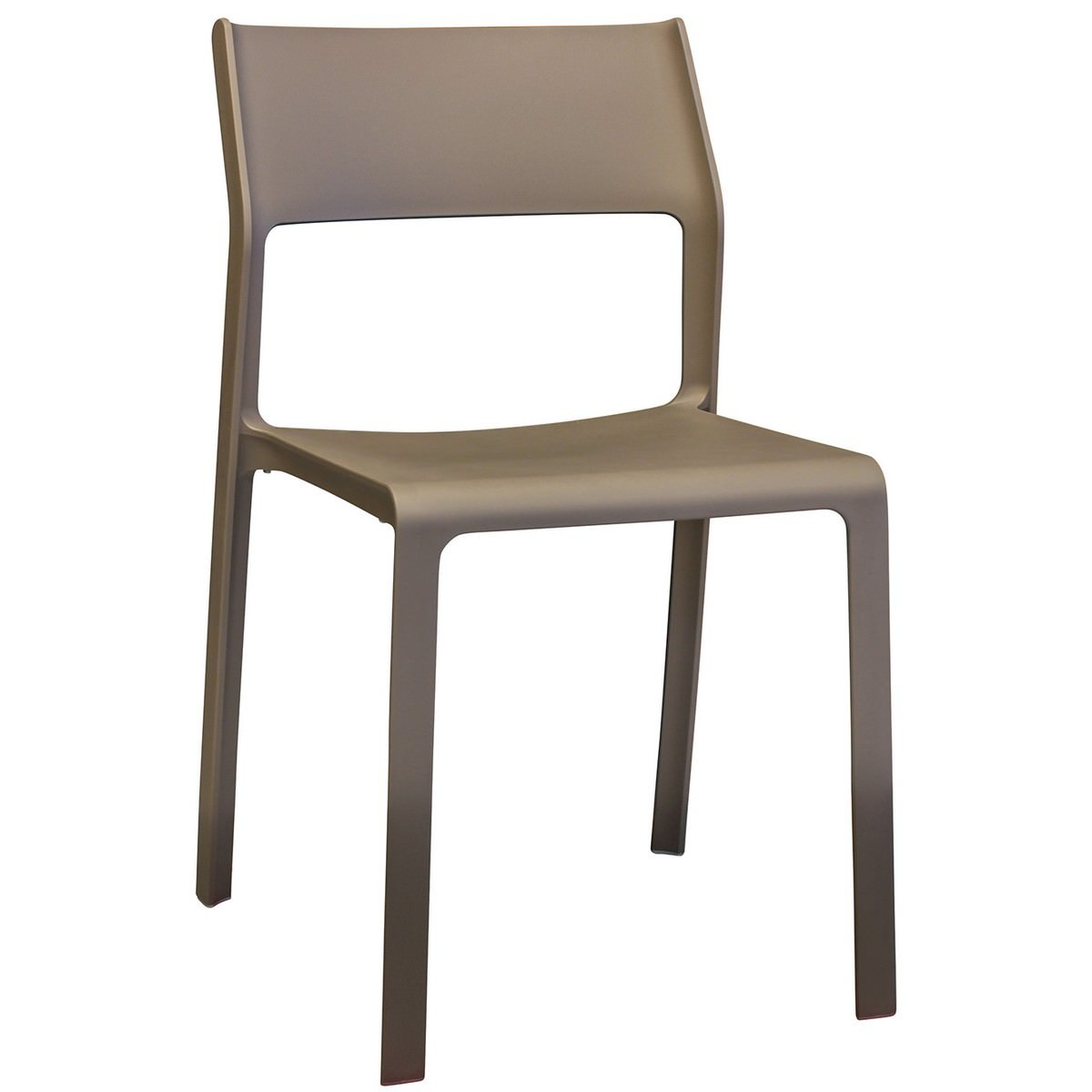 Trill Italian Made Commercial Grade Indoor / Outdoor Dining Chair, Taupe