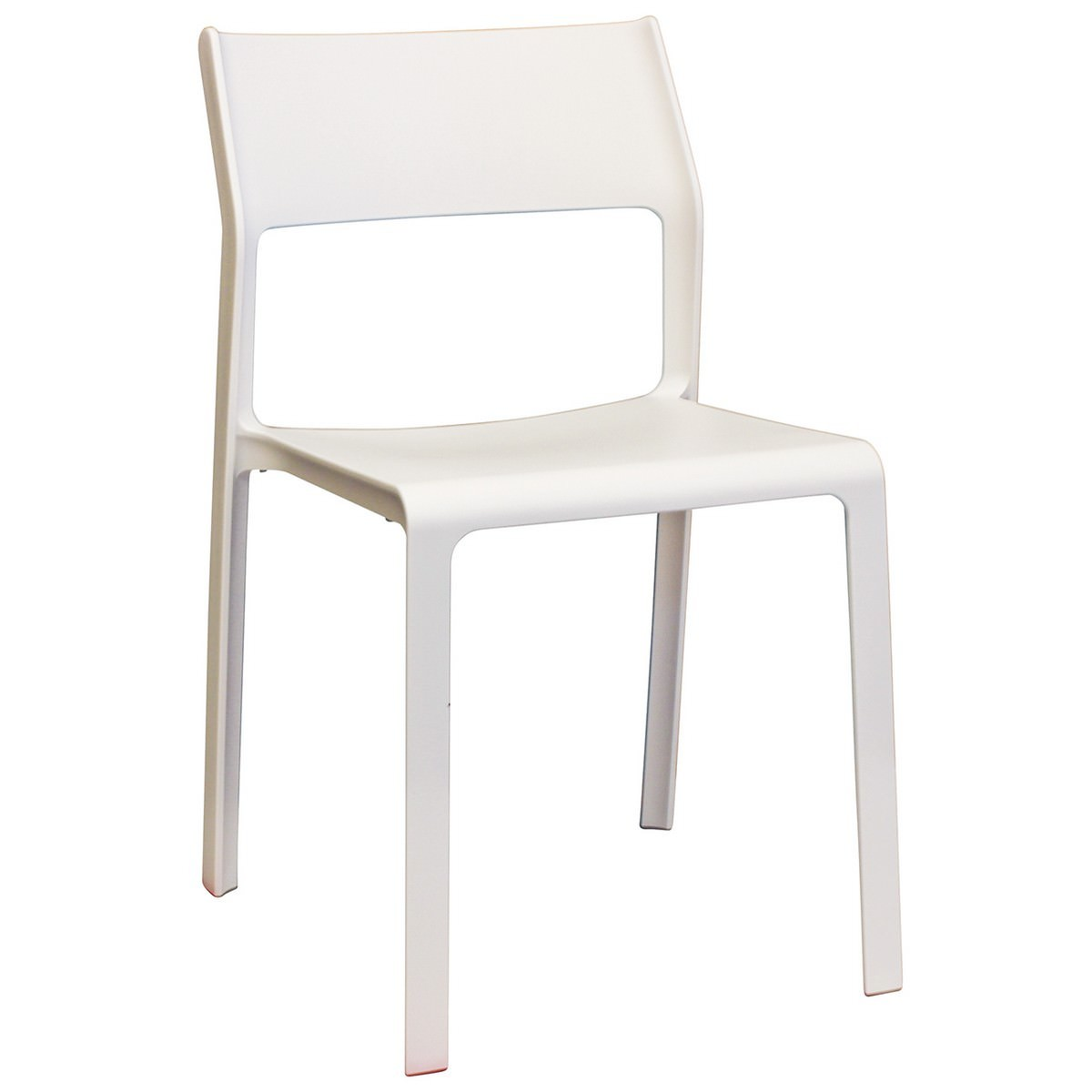 Trill Italian Made Commercial Grade Indoor / Outdoor Dining Chair, White