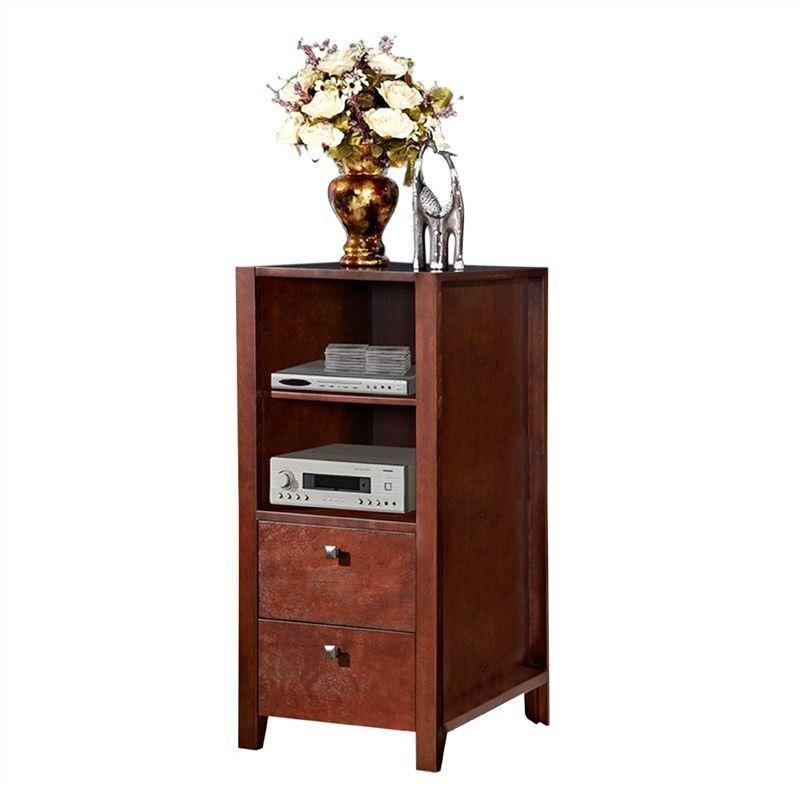 Studio Wooden 2 Drawer Audio Storage Unit, Coffee Stain