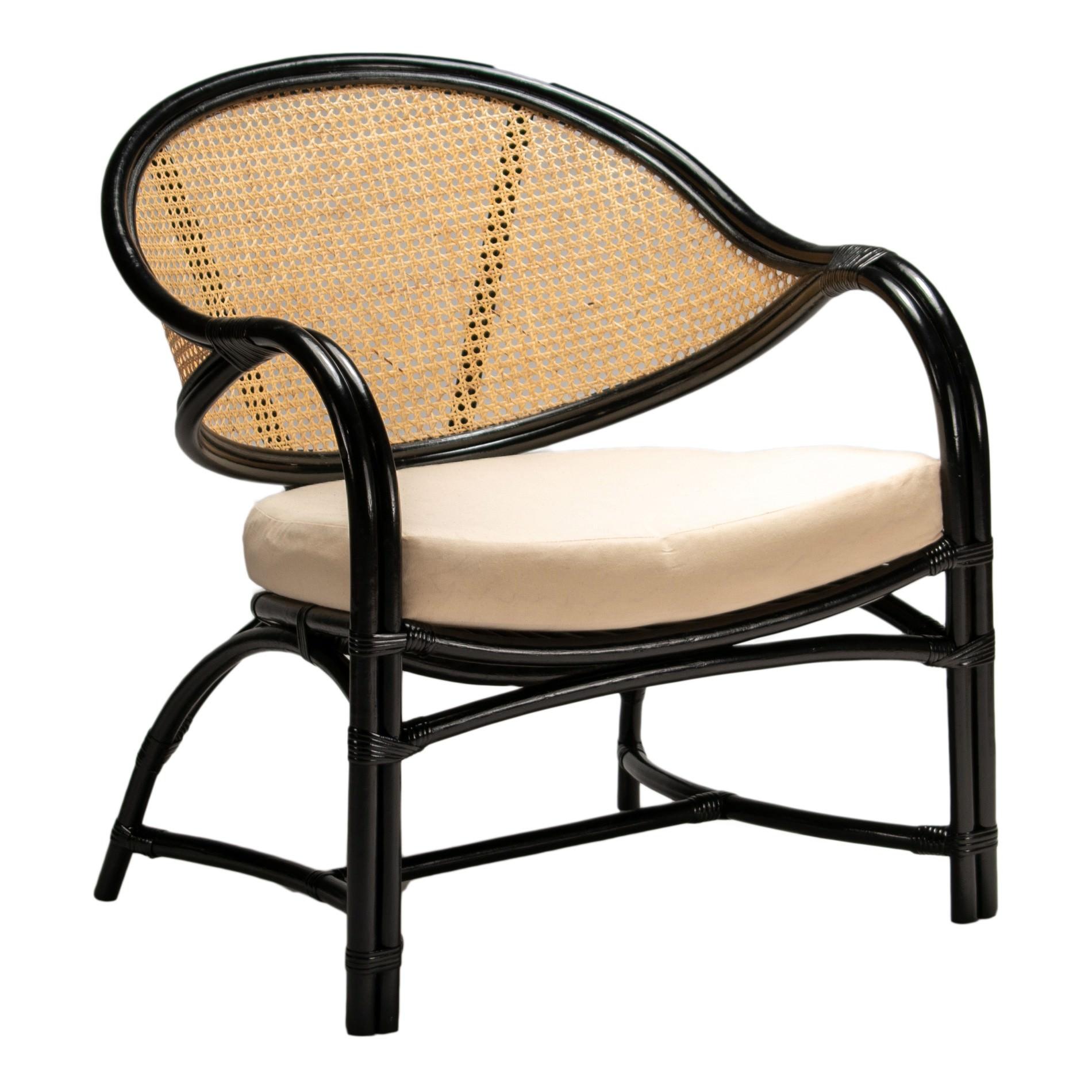 Caicos Rattan Armchair, Black