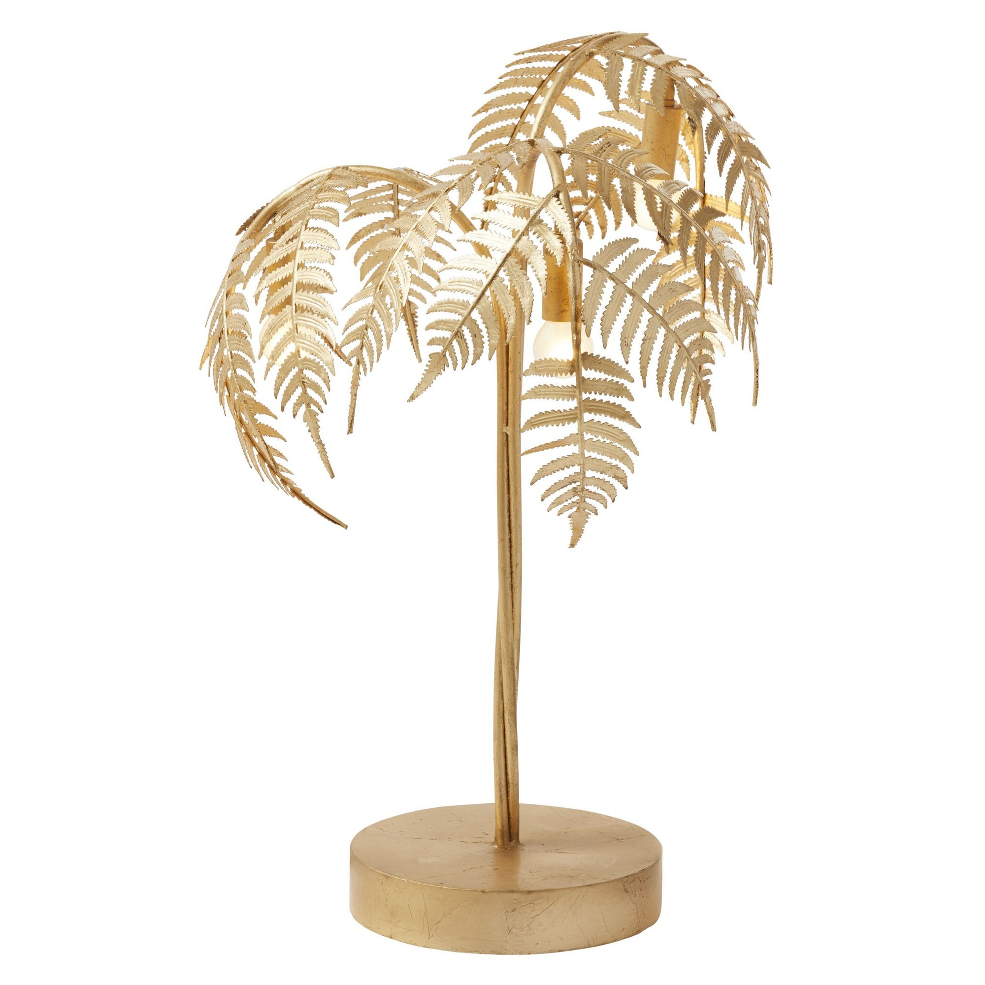 Palm Iron Table Lamp