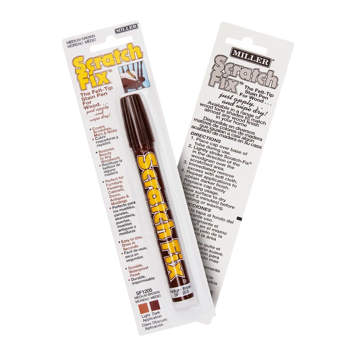Miller Scratch Fix Pen, Medium Brown