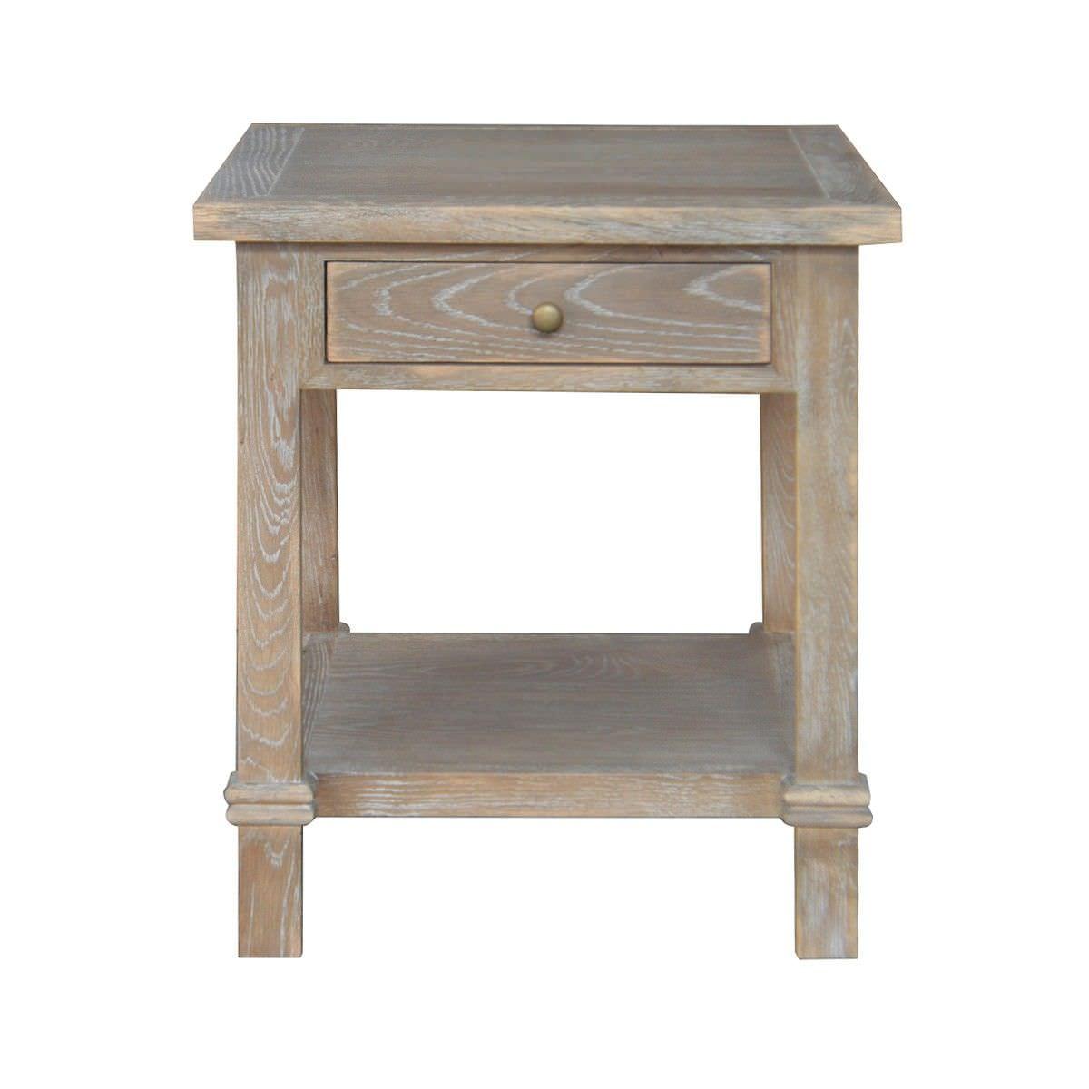 Greendale Oak Timber Side Table, Burnt Oak