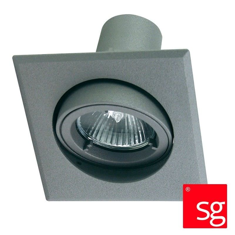 Tellus Ip44 Glass Covered Downlight - Silver (Oriel Lighting)