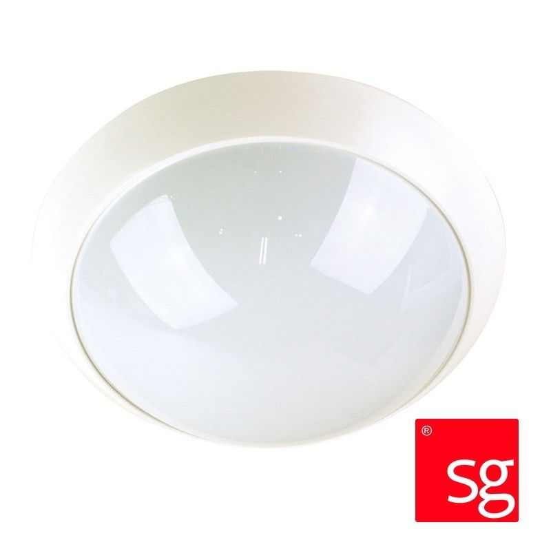 Econ Ip44 Acrylic Double Insulated Exterior Ceiling Light - White (Oriel Lighting)