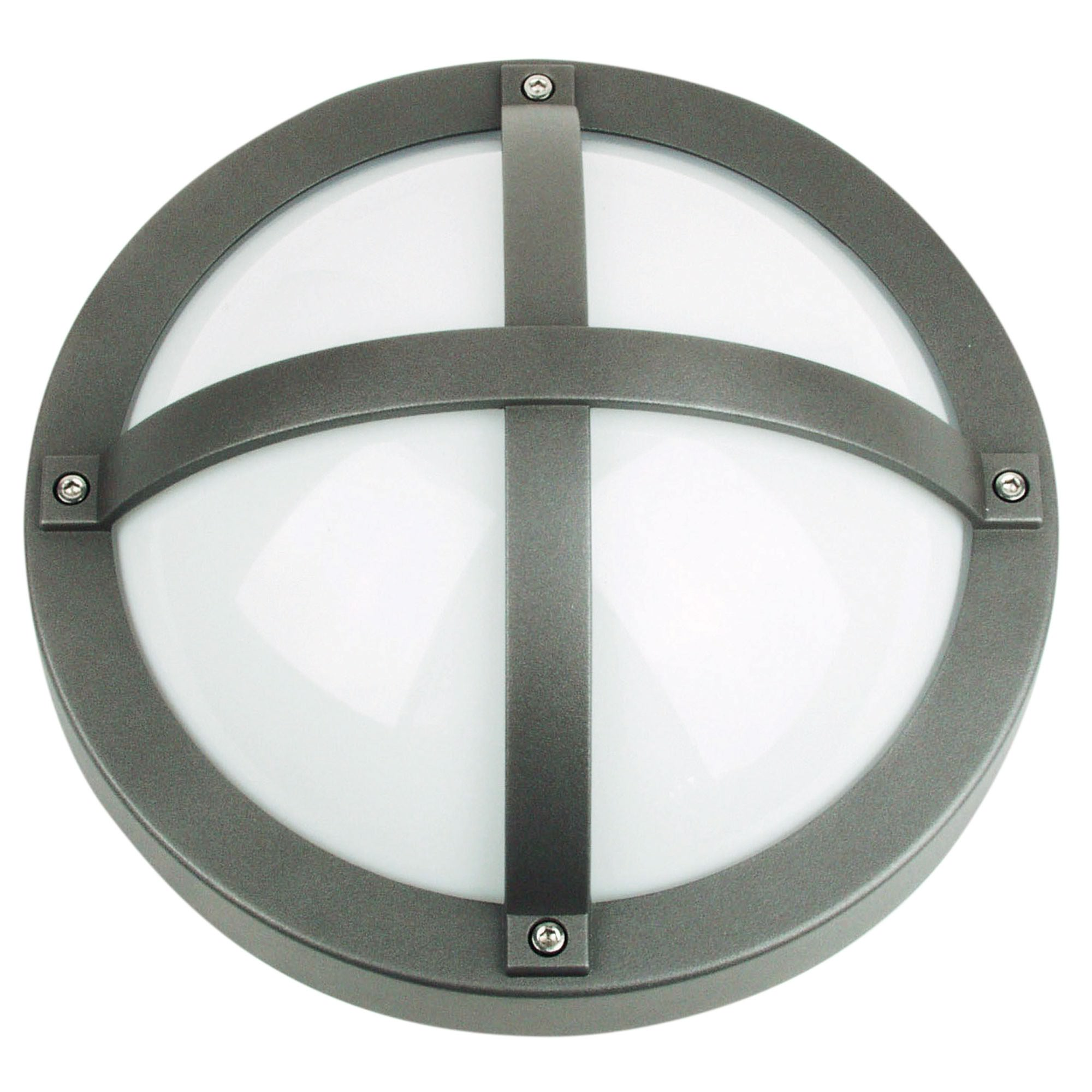 Solo IP65 Commercial Grade Exterior Bunker Wall Light, Graphite