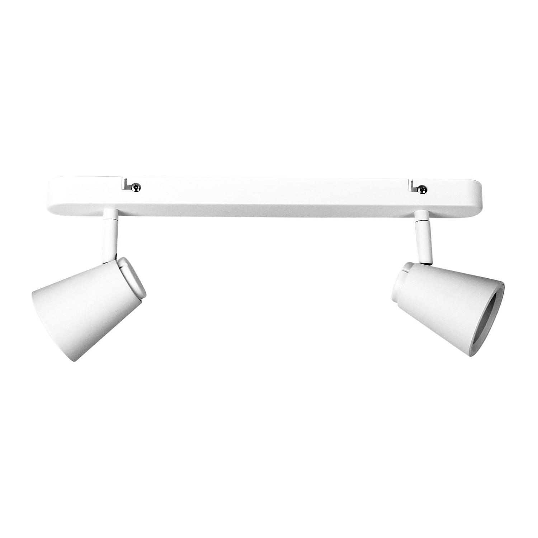 Zoom Commercial Grade Bar Spotlight, 2 Light, Textured White