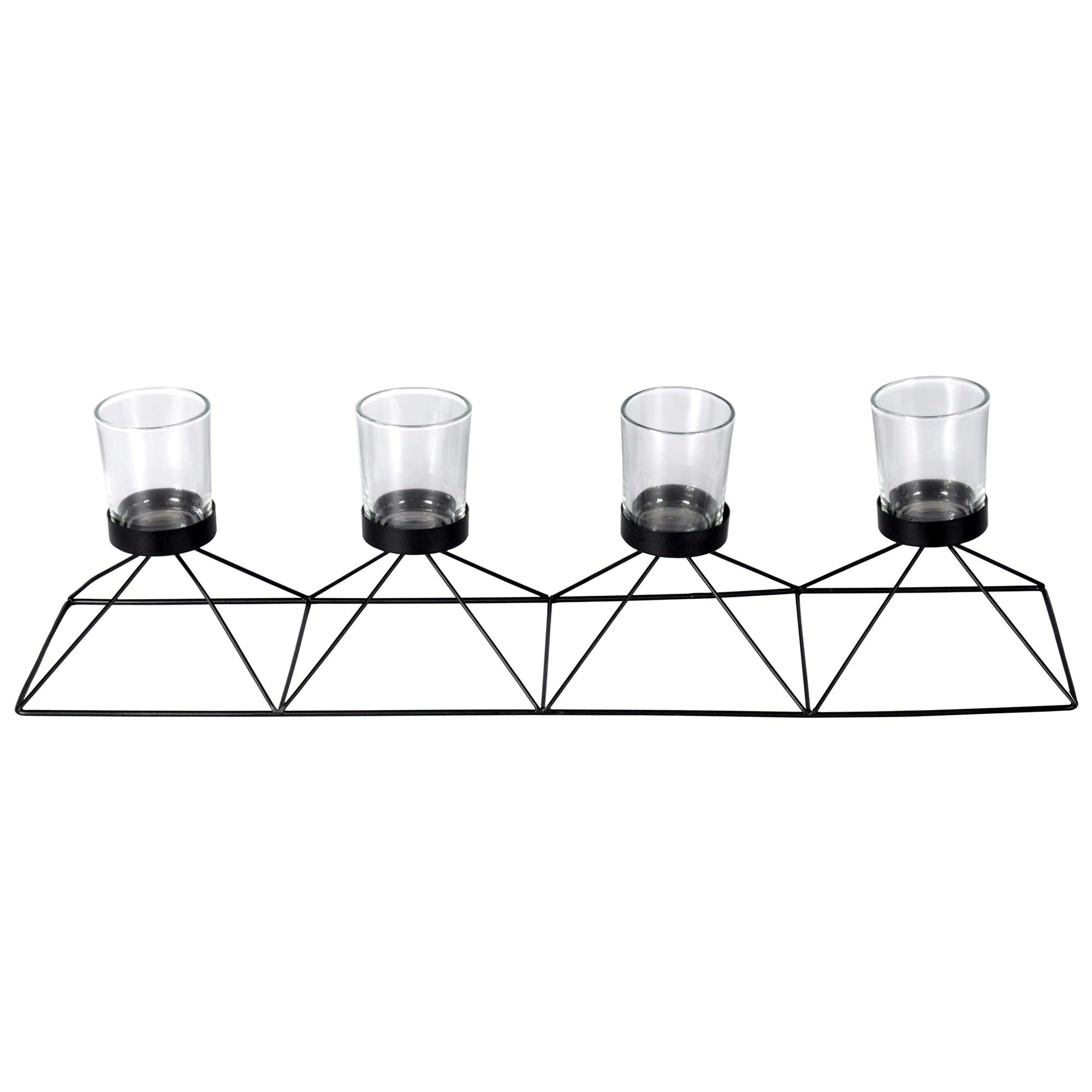 Velez Metal Wire Tealight Holder, Black