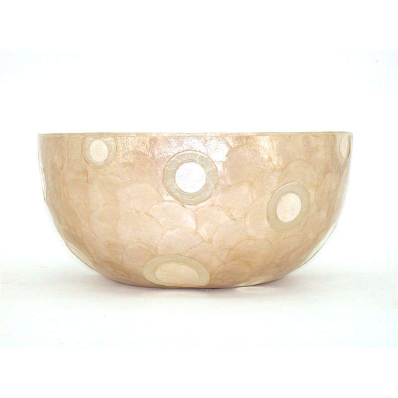 Capiz Shell Statement Bowl with Polyurethane Coating - 45x45x23cm