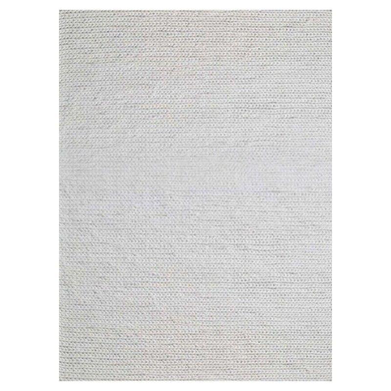 Bramston Braided Modern Wool Rug, 280x190cm, Ivory