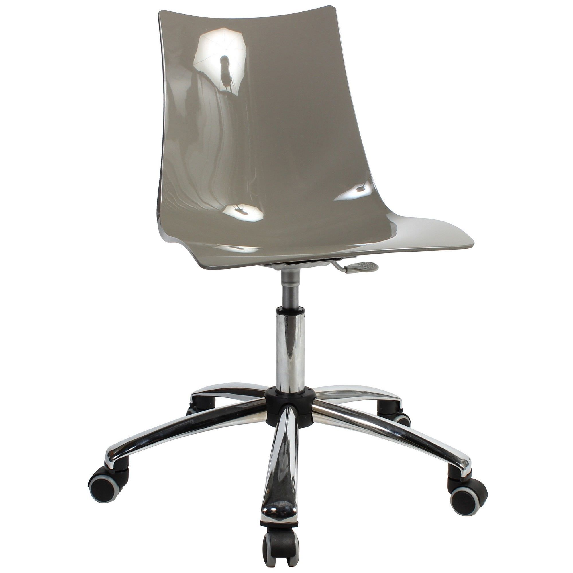 Zebra Italian Made Commercial Grade Gas Lift Office Chair, Dove Grey