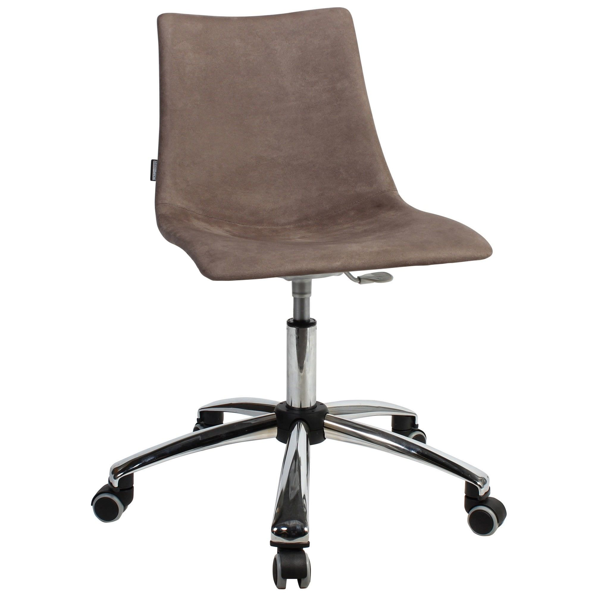 Zebra Pop Italian Made Commercial Grade Gas Lift Fabric Office Chair, Brown