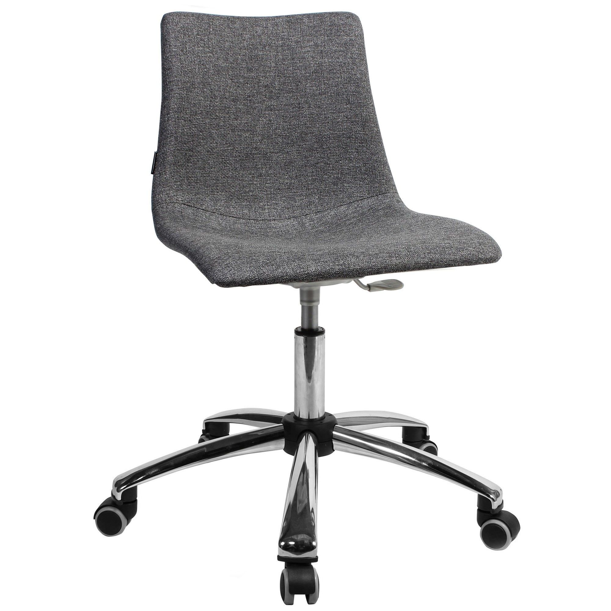 Zebra Pop Italian Made Commercial Grade Gas Lift Fabric Office Chair, Grey