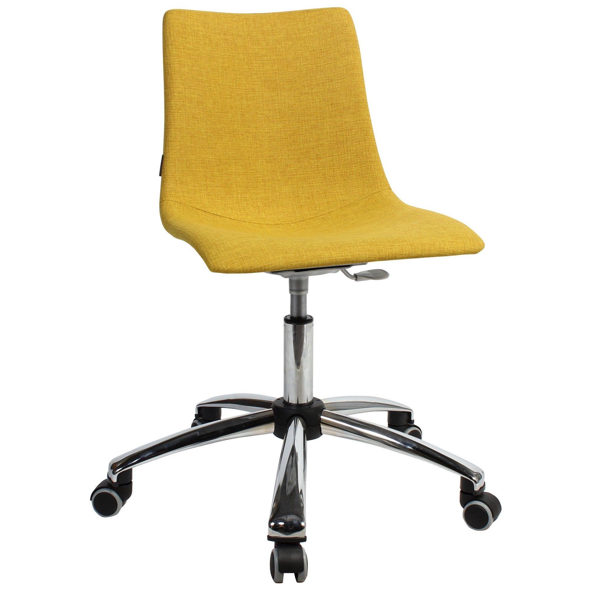 Zebra Pop Italian Made Commercial Grade Gas Lift Fabric Office Chair, Saffron