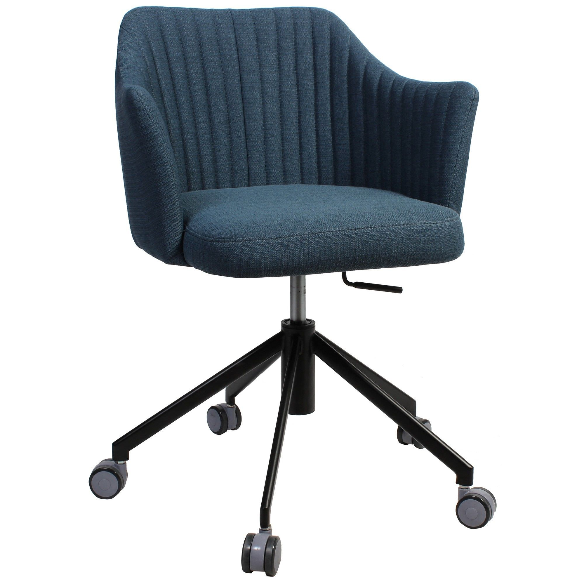 Coogee Commercial Grade Gas Lift Fabric Office Armchair, Blue / Black