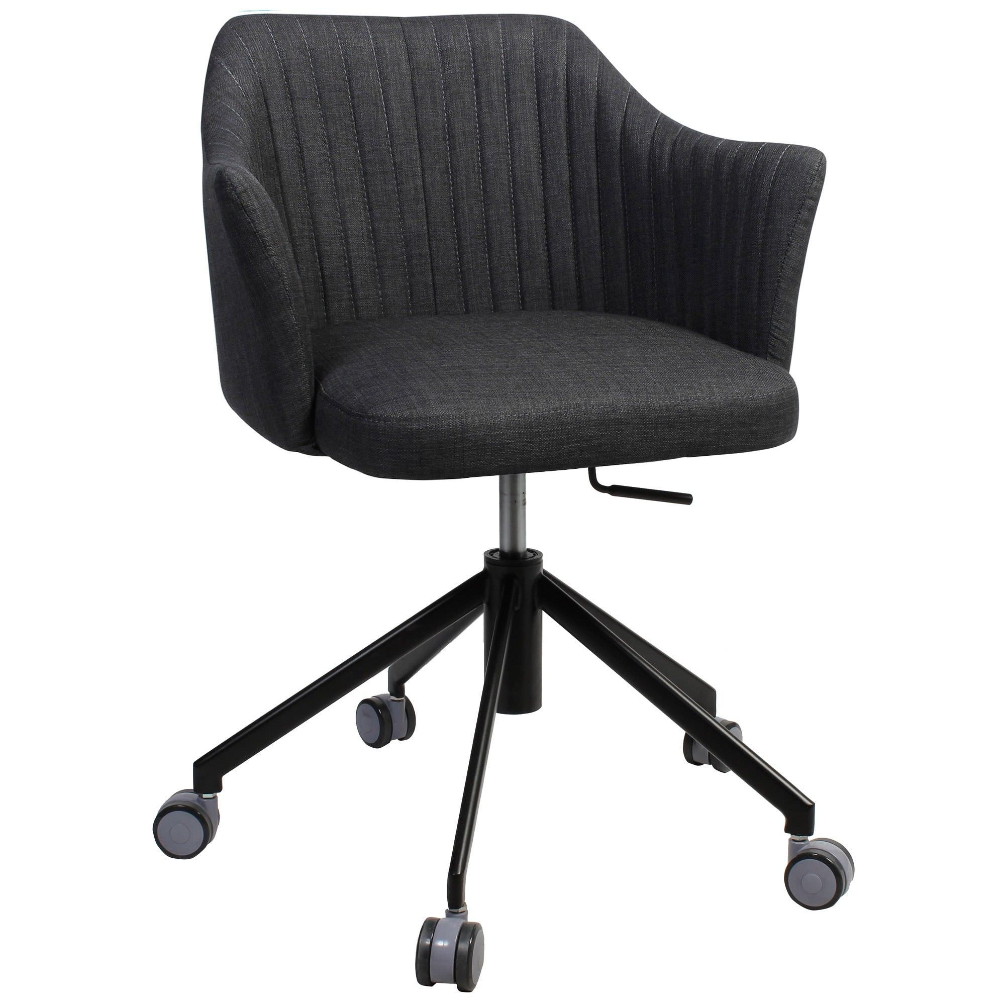 Coogee Commercial Grade Gas Lift Fabric Office Armchair, Charcoal / Black
