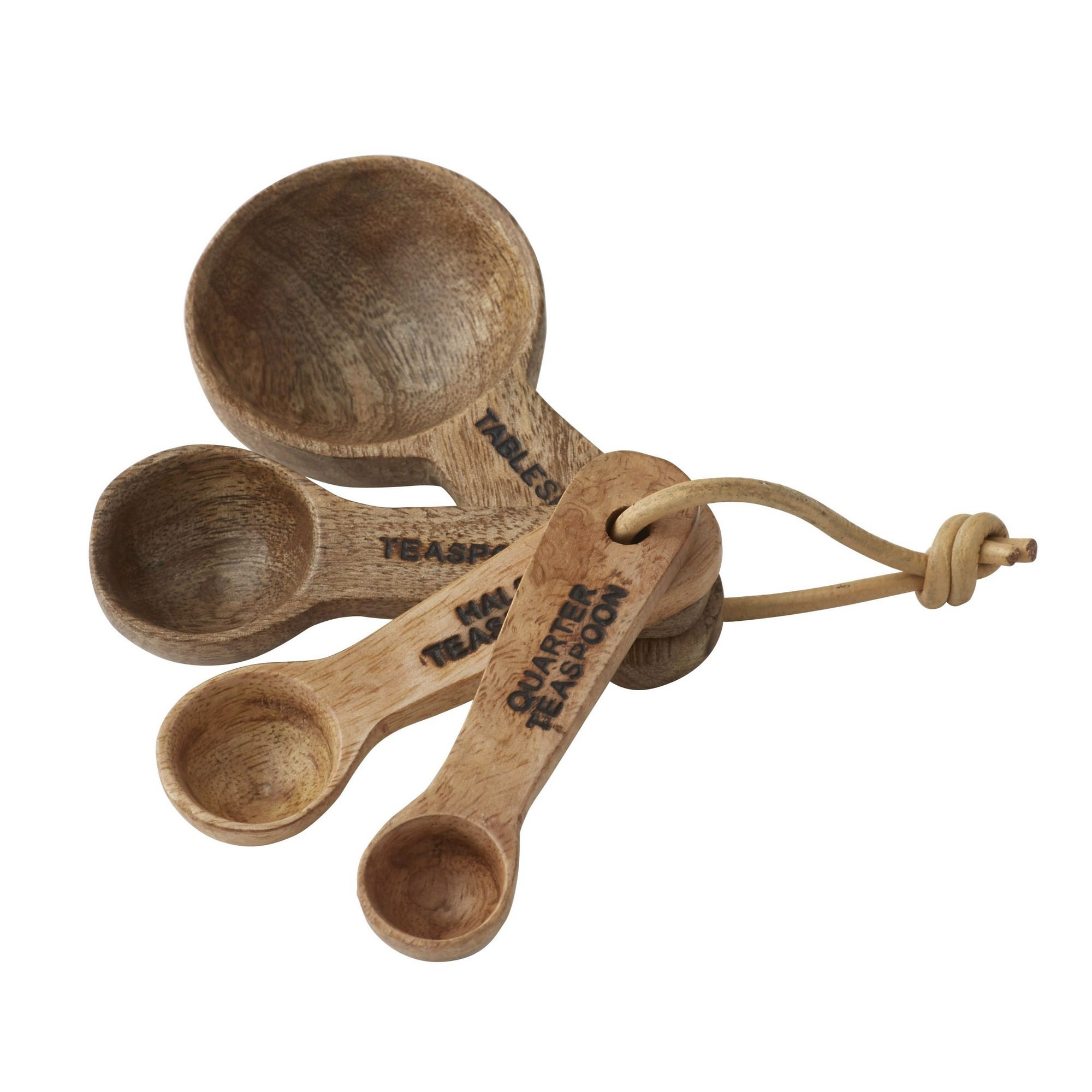 Eliot 4 Piece Mango Wood Measuring Spoon Set