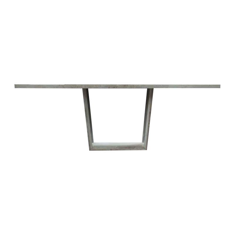 Lauren Italian Bianco Carrara Marble Dining Table, 200cm