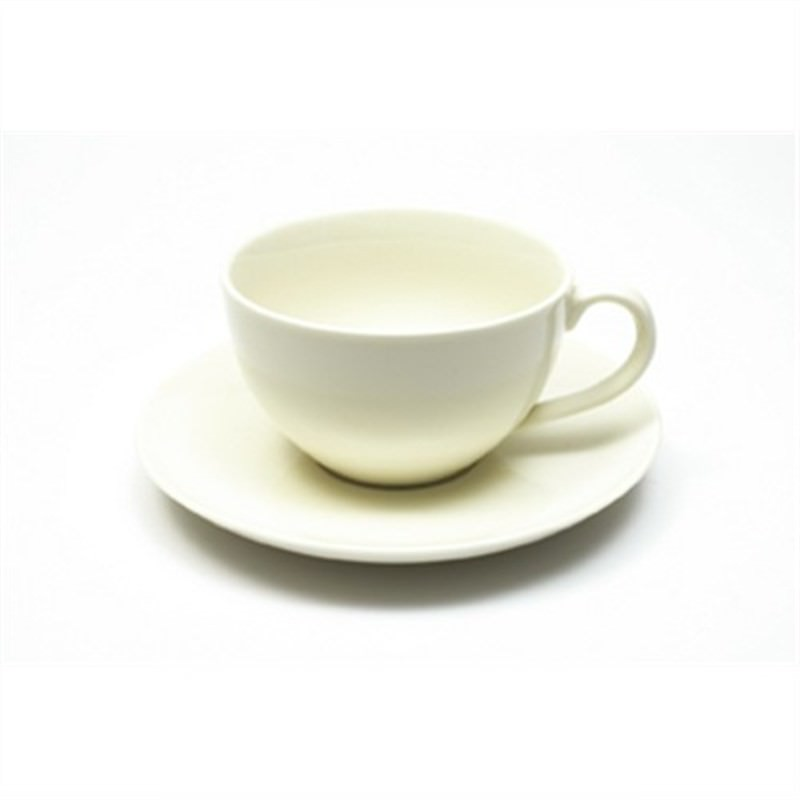 Maxwell and Williams - White Basics Jumbo Coffee 350ml and Saucer