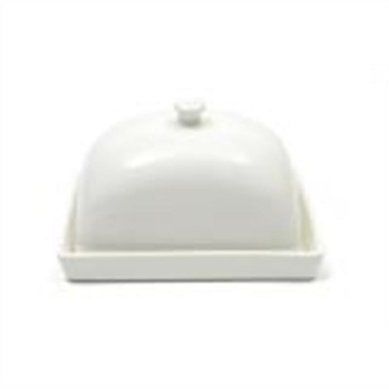 Maxwell and Williams - White Basics Rectangular Butter Dish 15cm Gift Boxed