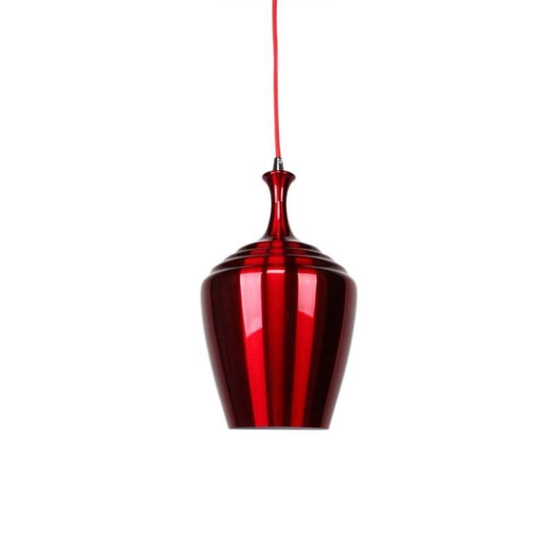 Eva Wide Pendant Light - Wine Red