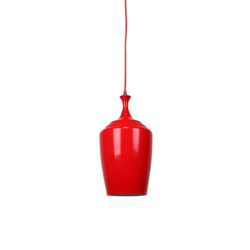 Eva Tall Pendant Light - Flame Red