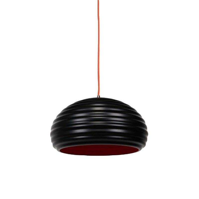 Agnes Pendant Light - Matt Balck / Red