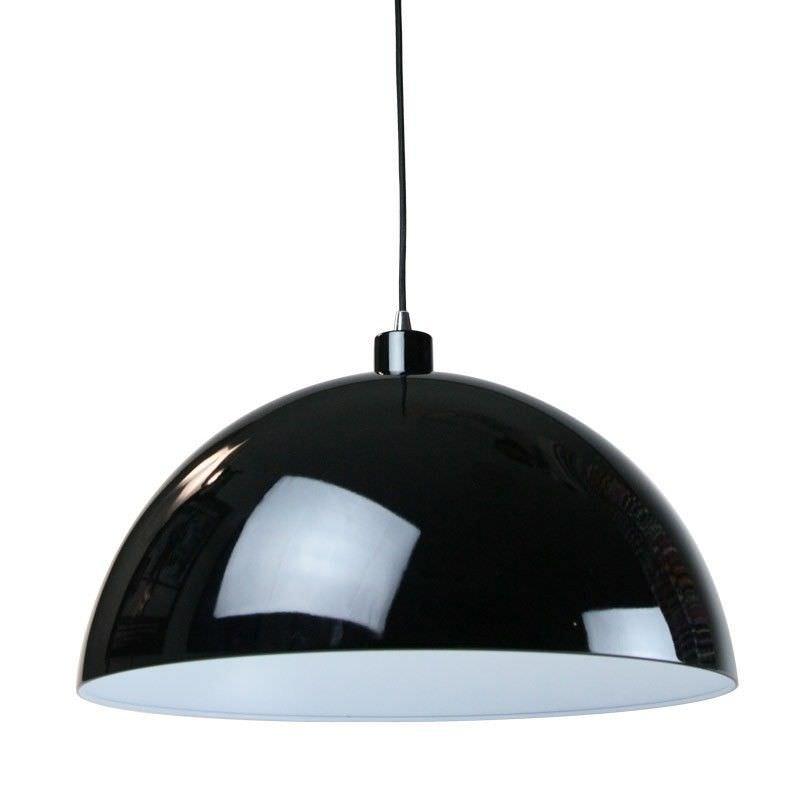 Helios Glossy Metal Pendant Light - Black