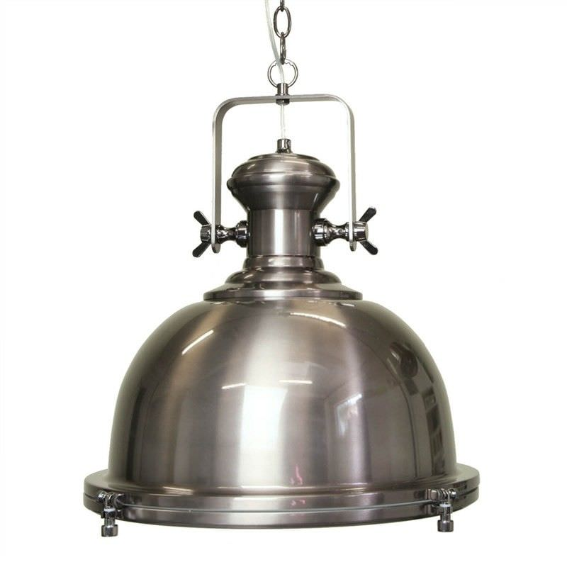 Gaia Industrial Pendant Light - Antique Silver