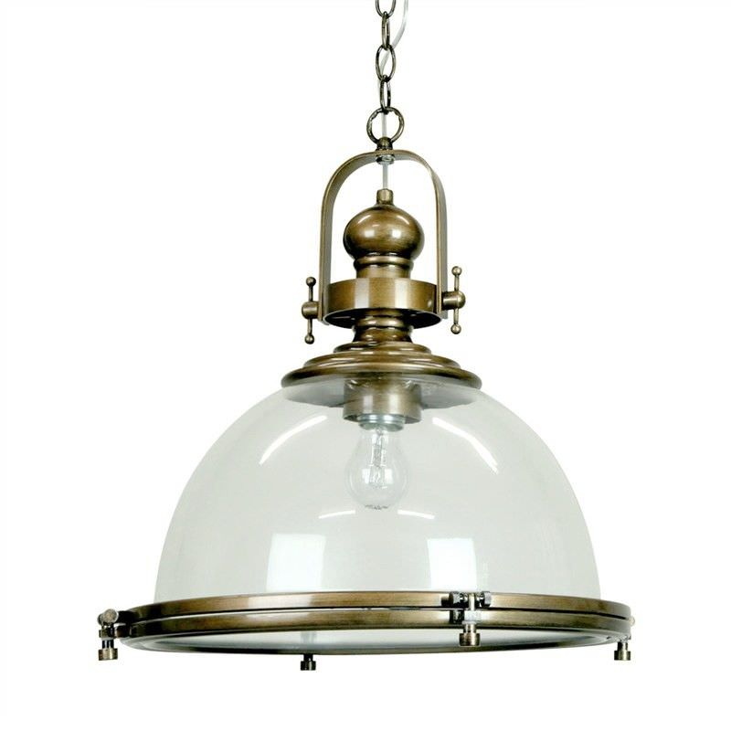 Gaia Industrial Pendant Light With Clear Shade