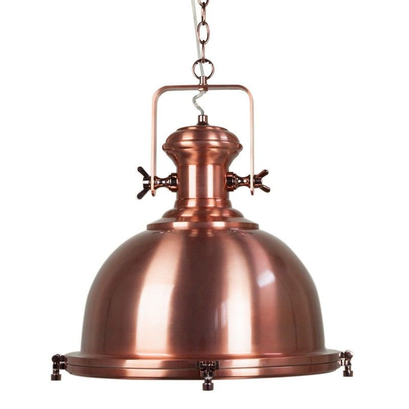 Gaia Industrial Pendant Light - Copper