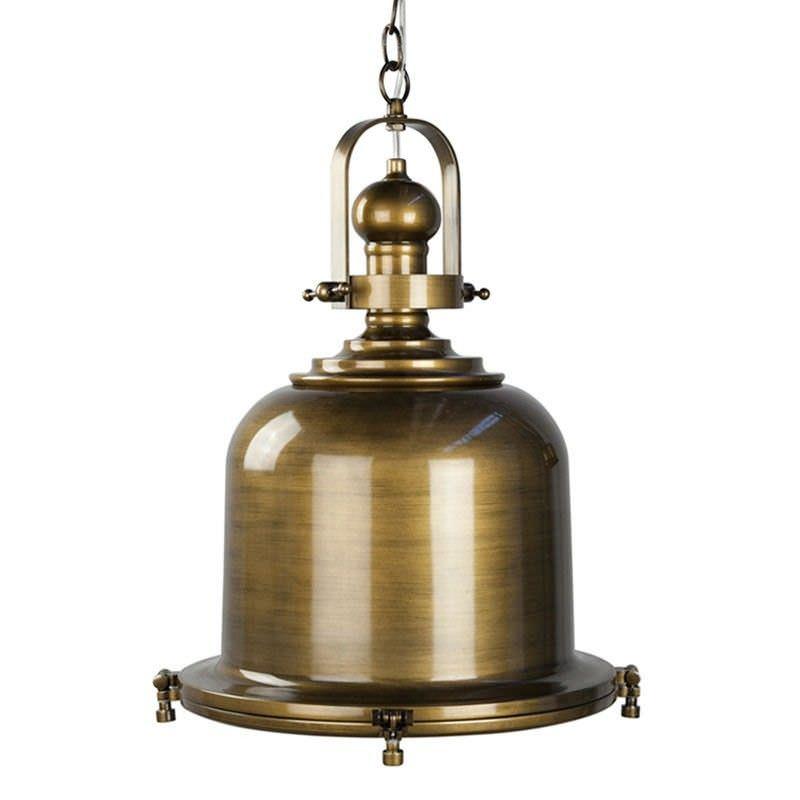 Gaia Classic Pendant Light - Antique Brass