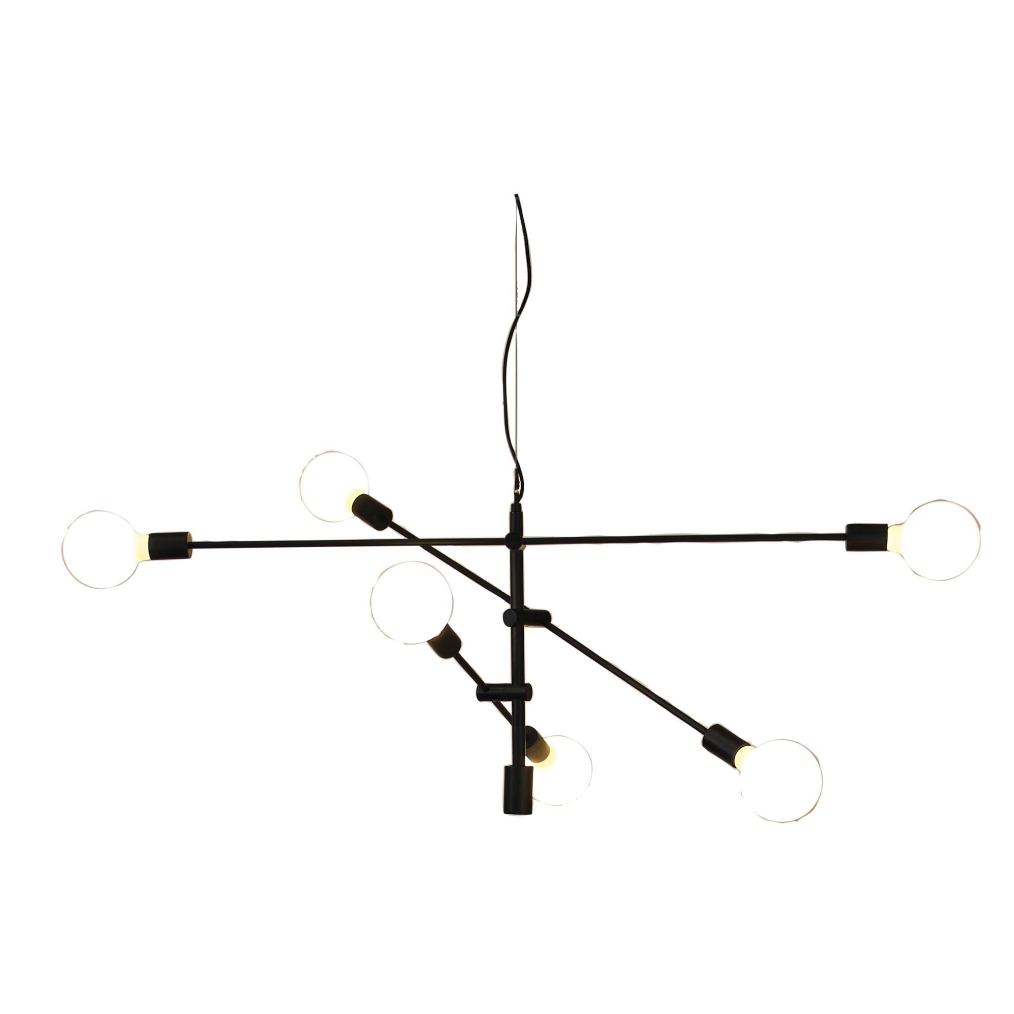 Chelsea Metal Satellite Pendant Light, Large, Matt Black