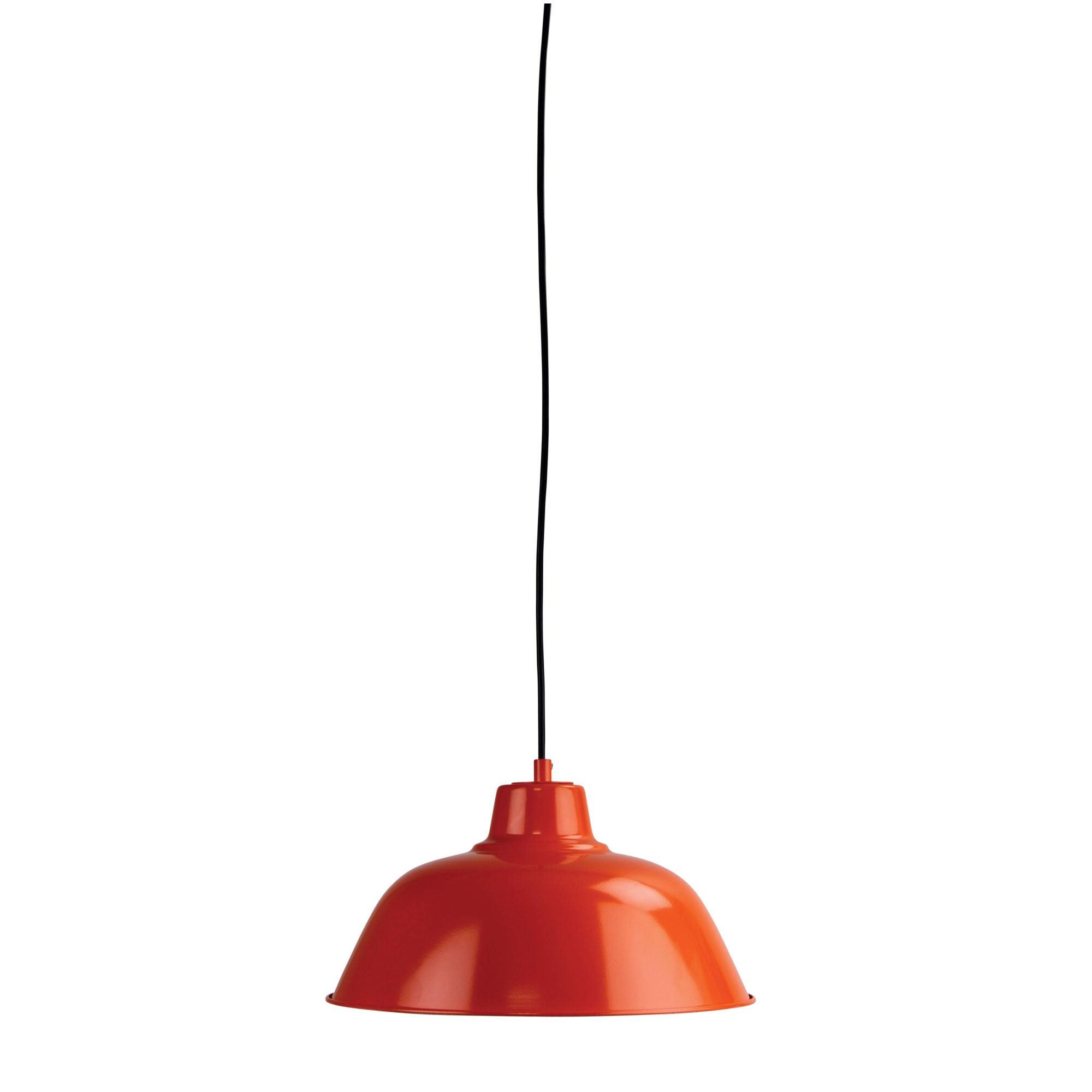 Forge Metal Pendant Light, 30cm, Orange
