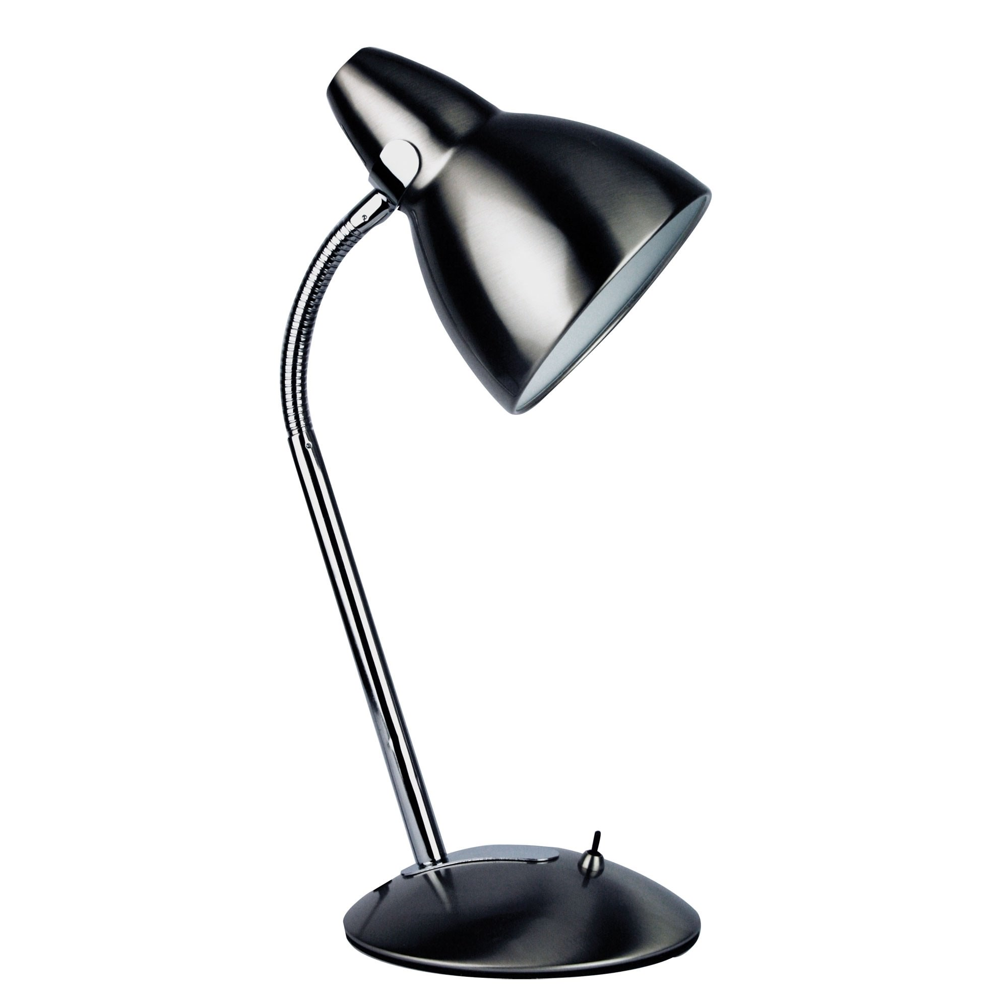 Trax Metal Desk Lamp, Brushed Chrome