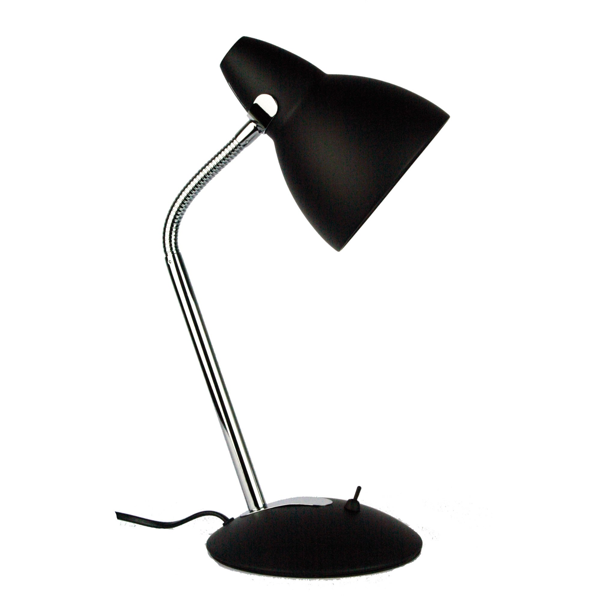 Trax Metal Desk Lamp, Black