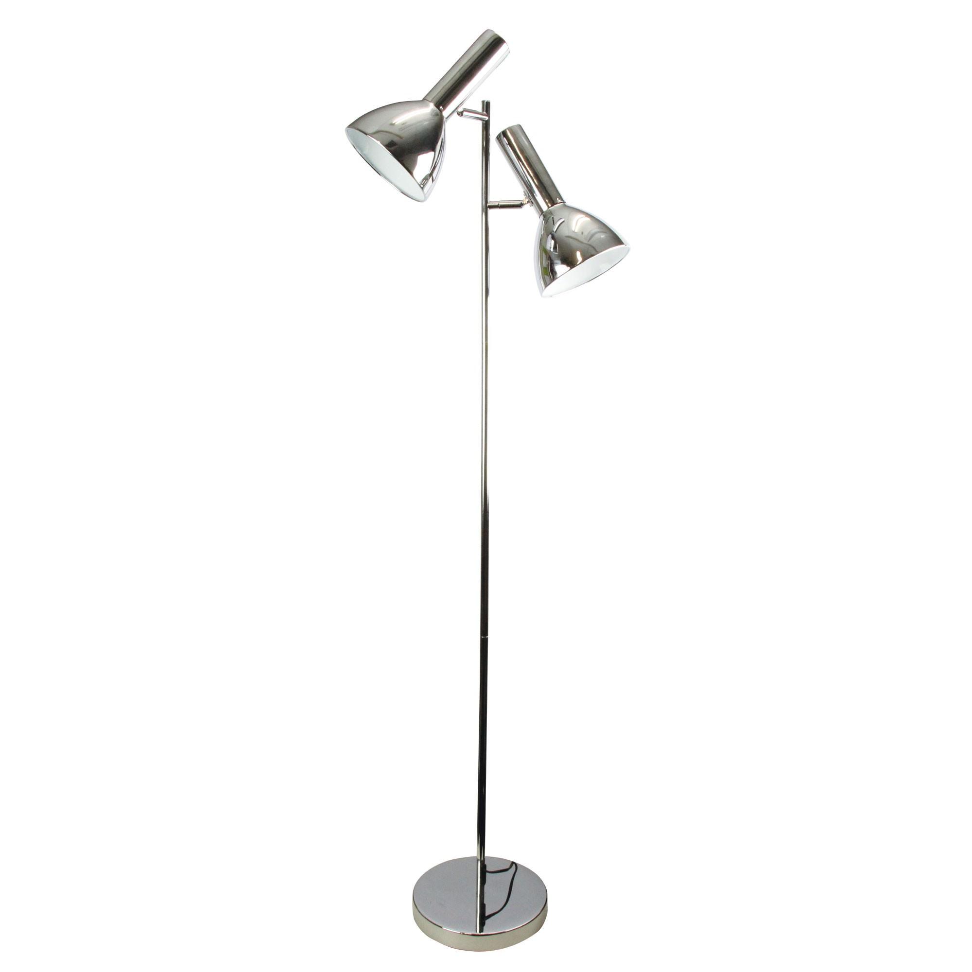 Vespa Metal Twin Floor Lamp, Chrome