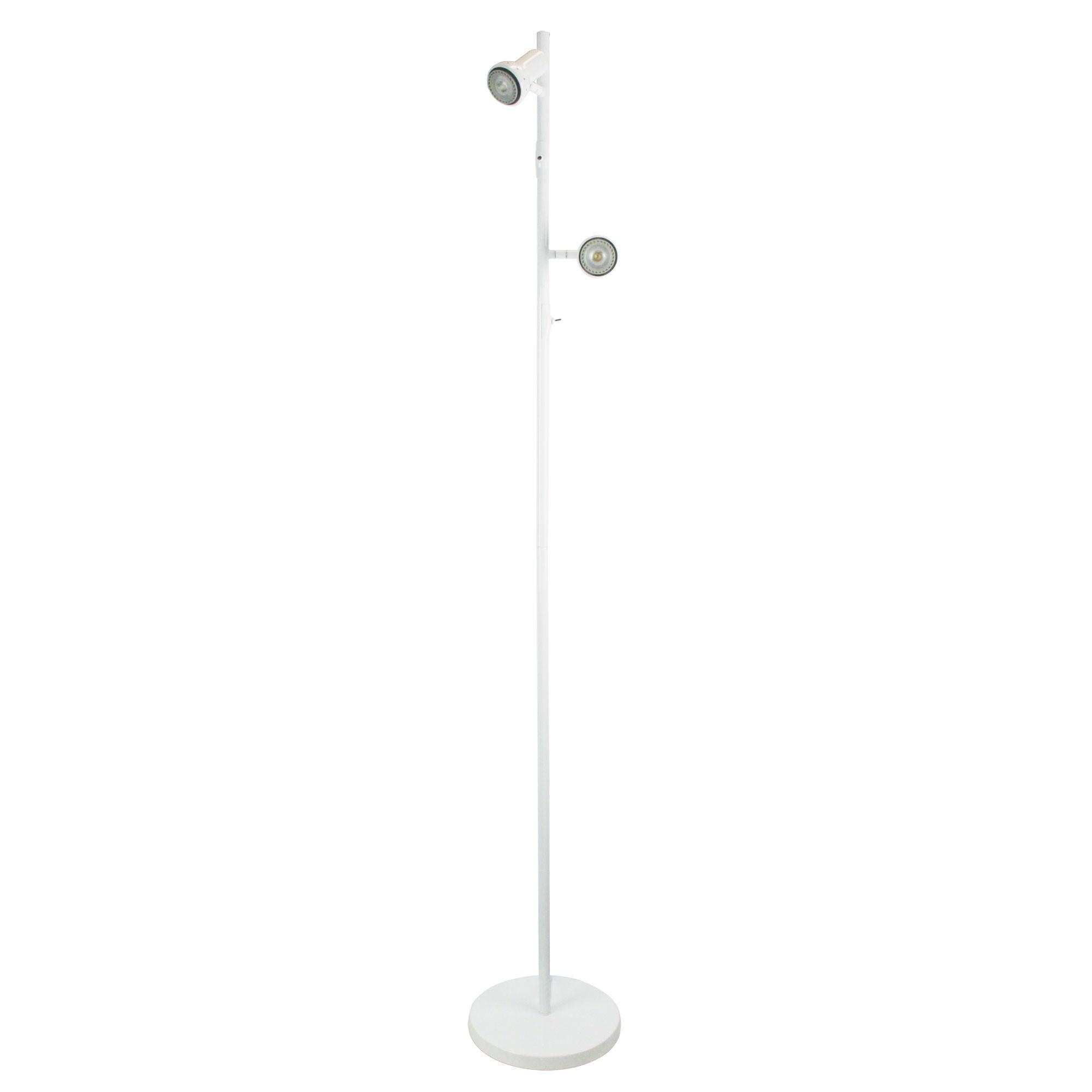 Daxam Metal Twin Adjustable LED Floor Lamp, White