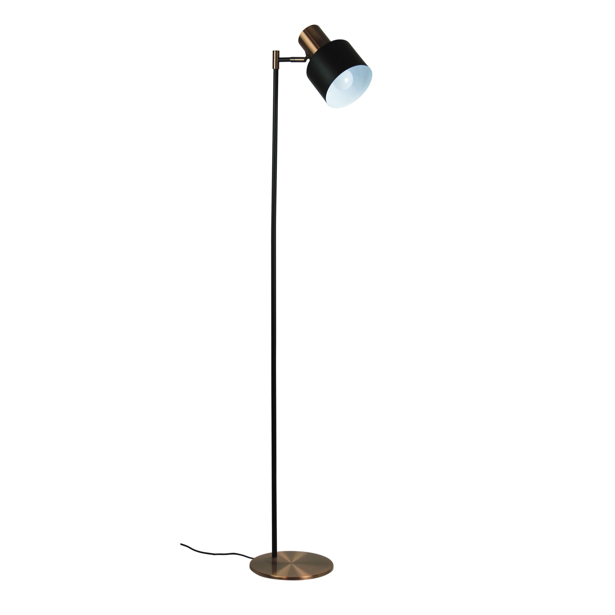 Ari Metal Floor Lamp, 1 Light, Brushed Copper