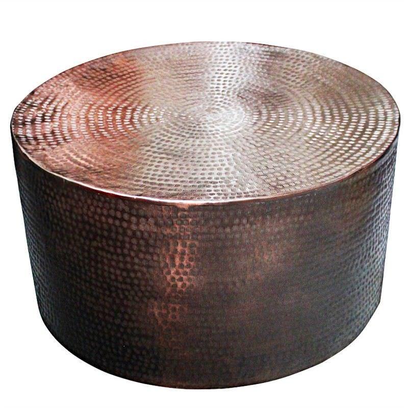 Bronze Coffee Table Australia: Shani Hammered Aluminium 80cm Round Coffee Table