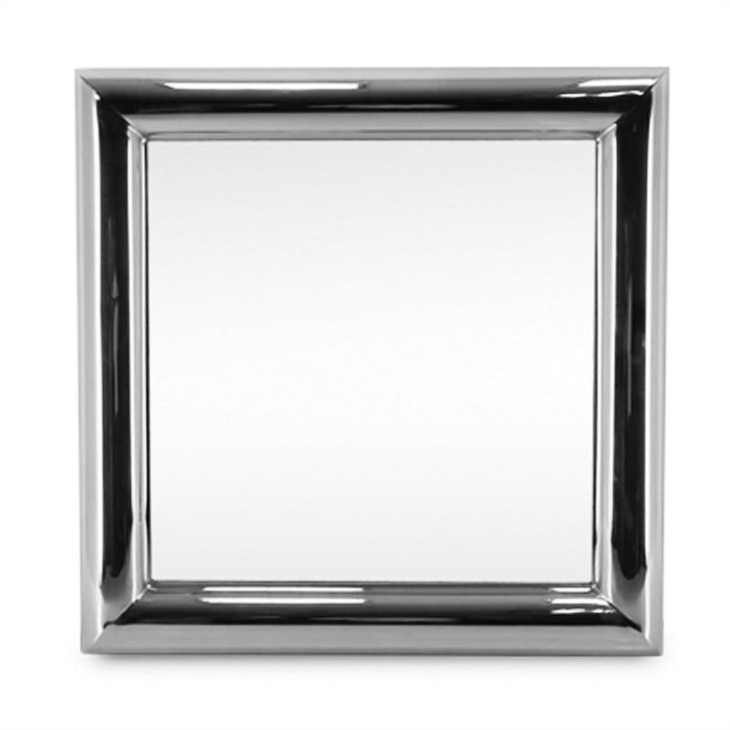 Bullet Stainless Steel 100cm Square Wall Mirror
