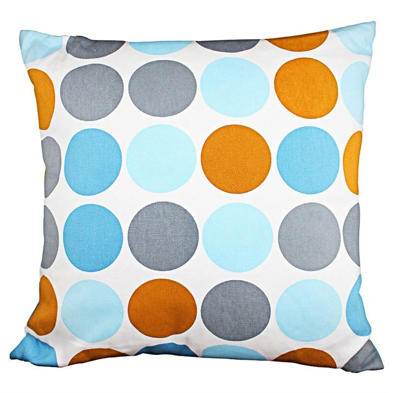 Set of 2 Pippa Dots Fabric Cushions
