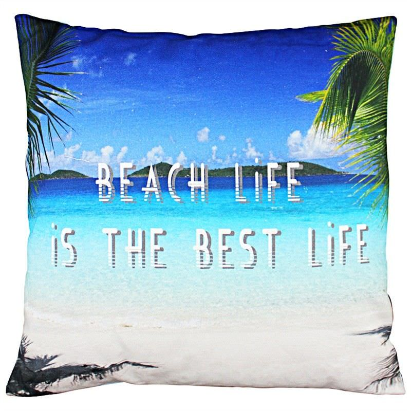 Set of 2 Beach Life Fabric Cushions