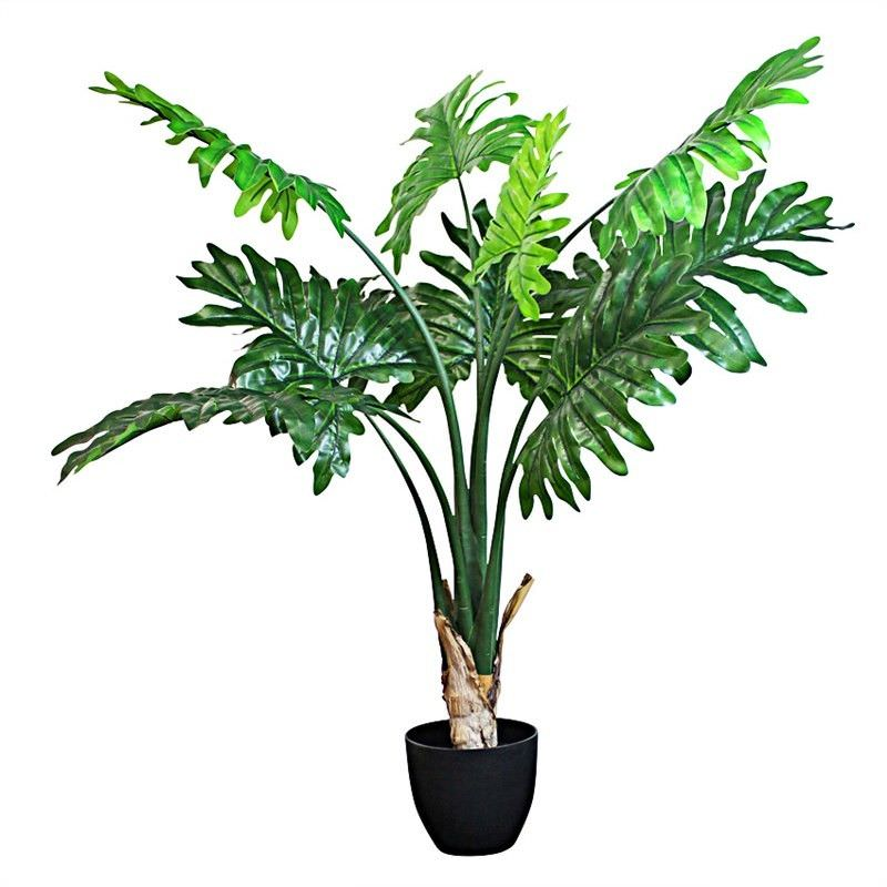 Set of 2 Artificial Philodendron in Pot