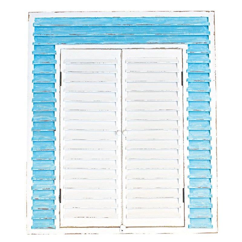 Nouville Wooden Shutter Design Wall Mirror