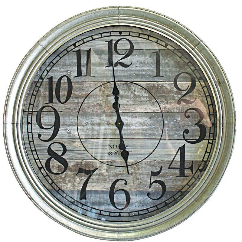 Mitte Metal Frame 90cm Round Wall Clock