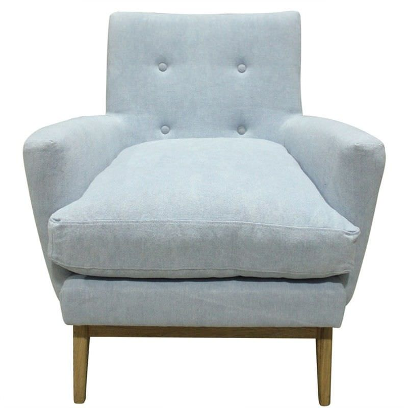 Arne Linen Fabric Armchair - Ink