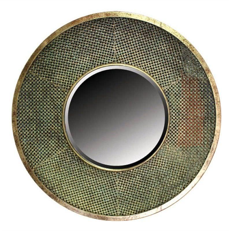 Safi Metal Lattice Frame 80cm Round Wall Mirror