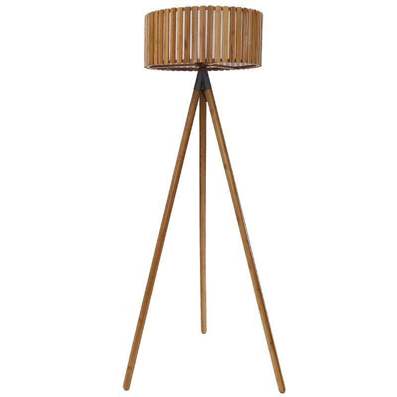 Garron Bamboo Floor Lamp